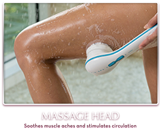 Massage Head – Soothes muscle aches and stimulates circulation