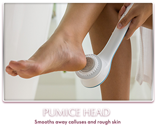 Pumice Head – Smooths away calluses and rough skin